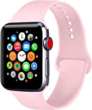 ATUP Compatible with Apple Watch Band 38mm 40mm 42mm 44mm Women Men, Soft Silicone Band Compatible with for iWatch Series 4, 3, 2, 1