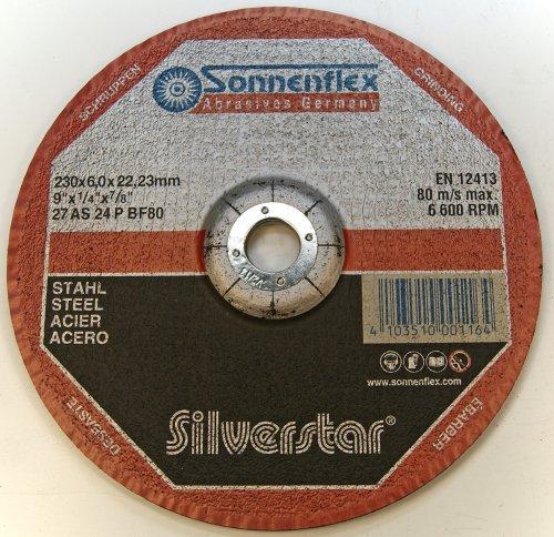 Sonnenflex Silverstar slijpschijven voor staal, 230 x 6 x 22,23 mm, AS 24 P BF