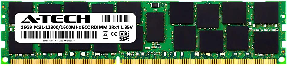 A-Tech 16GB for ASUS KGPE-D16 (1 x 16GB) PC3-12800 (DDR3-1600) ECC Registered RDIMM 240-Pin 2Rx4 1.35V Server Memory RAM