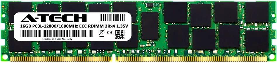 A-Tech 16GB for ASROCK EN2C602-4L (1 x 16GB) PC3-12800 (DDR3-1600) ECC Registered RDIMM 240-Pin 2Rx4 1.35V Server Memory RAM