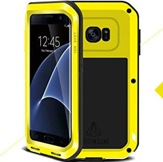 Galaxy S7 Warrior Love Mei Case, Awesome Aviation Aluminum Metal Anti-Drop Funda, TAITOU Cool Outdoor Sport Dirt Shockproof Protection Armor Phone Case For Samsung Galaxy S7 Yellow