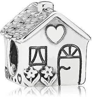 Christams House of Santa Charms Cherry Enamel Silver Bead Fit Pandora Bracelet Jewelry