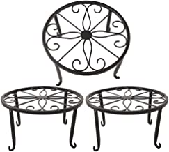 Metal Plant Stand Floor Flower Pot Rack Iron Art Plant Stands Pot Holder,3 Pieces in One Package (Black)