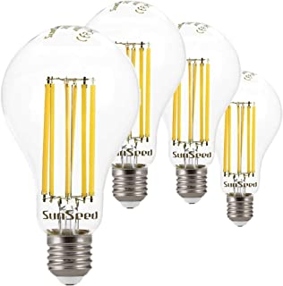 SunSeed 4 x Bombilla E27 Filamento LED 16 W Gota A75 2500 Lm Natural 4000 K