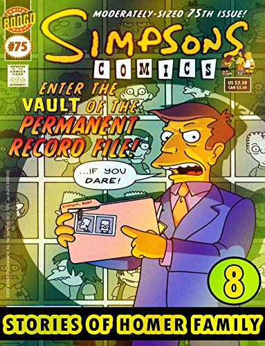 Homer Family Simpson: Collection Book 8 - Graphic Novel Family Cartoon Funny Comic Simpson (English Edition)