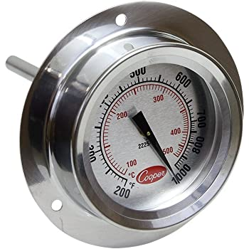 NSF 50 to 550 Degrees F Temperature Range 1 Silver Cooper-Atkins Corporation Cooper-Atkins 2238-14-3 Stainless Steel Bi-Metal Stem Test Thermometer with Clip Glass Lens