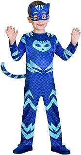 EM Catboy Classic Toddler PJ Masks Costume,Party Centre Child PJ Masks Catboy Costume Blue