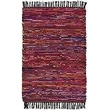 Commerce équitable fait à la main indiennes Chindi tapis en coton recyclé et...