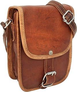 Gusti Handtasche Leder - Willy Umhängetasche Lederhandtasche Vintage Braun Leder