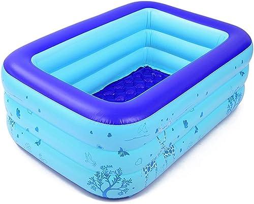 Aufblasbarer Swimmingpool Blau Dick Erwachsene PVC überGrün Bad Eimer Kind Baby Planschbecken (Größe   M)