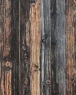 """Distressed Wood Wallpaper Weathered Wood Wallpaper Self Adhesive Wallpaper Removable Wallpaper Stick and Peel Reclaimed Wood Wallpaper Peel and Stick Wallpaper Wood Grain Wallpaper Roll 17.7""""x78.7"""""""