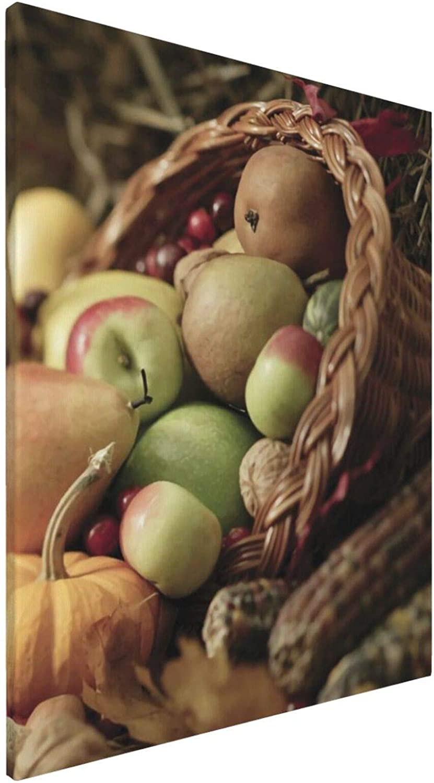 Thanksgiving Fruit Over item handling Unframed Canvas Poster Wall Ranking TOP8 Art Bathroom