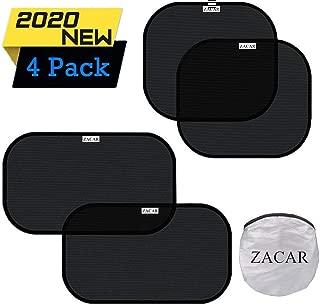 ZACAR Car Window Shade (4 Pack), Cling Car Window Shades for Baby, 80 GSM Car Sun Shade..