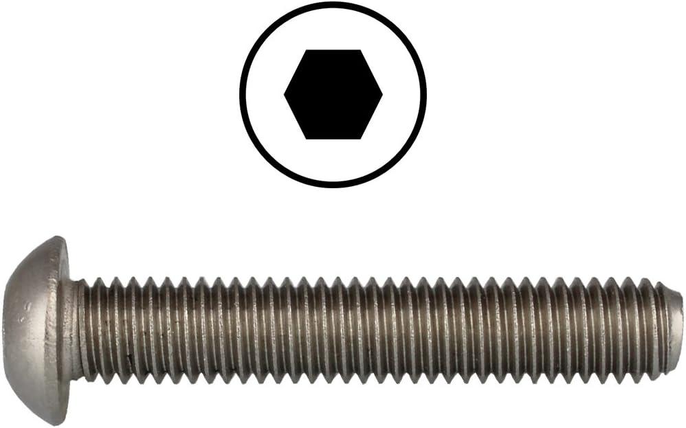 rostfrei | Flachkopfschrauben 20 St/ück DERING Linsenkopfschrauben M8 X 35//35 mit Innensechskant ISO 7380 Edelstahl A2