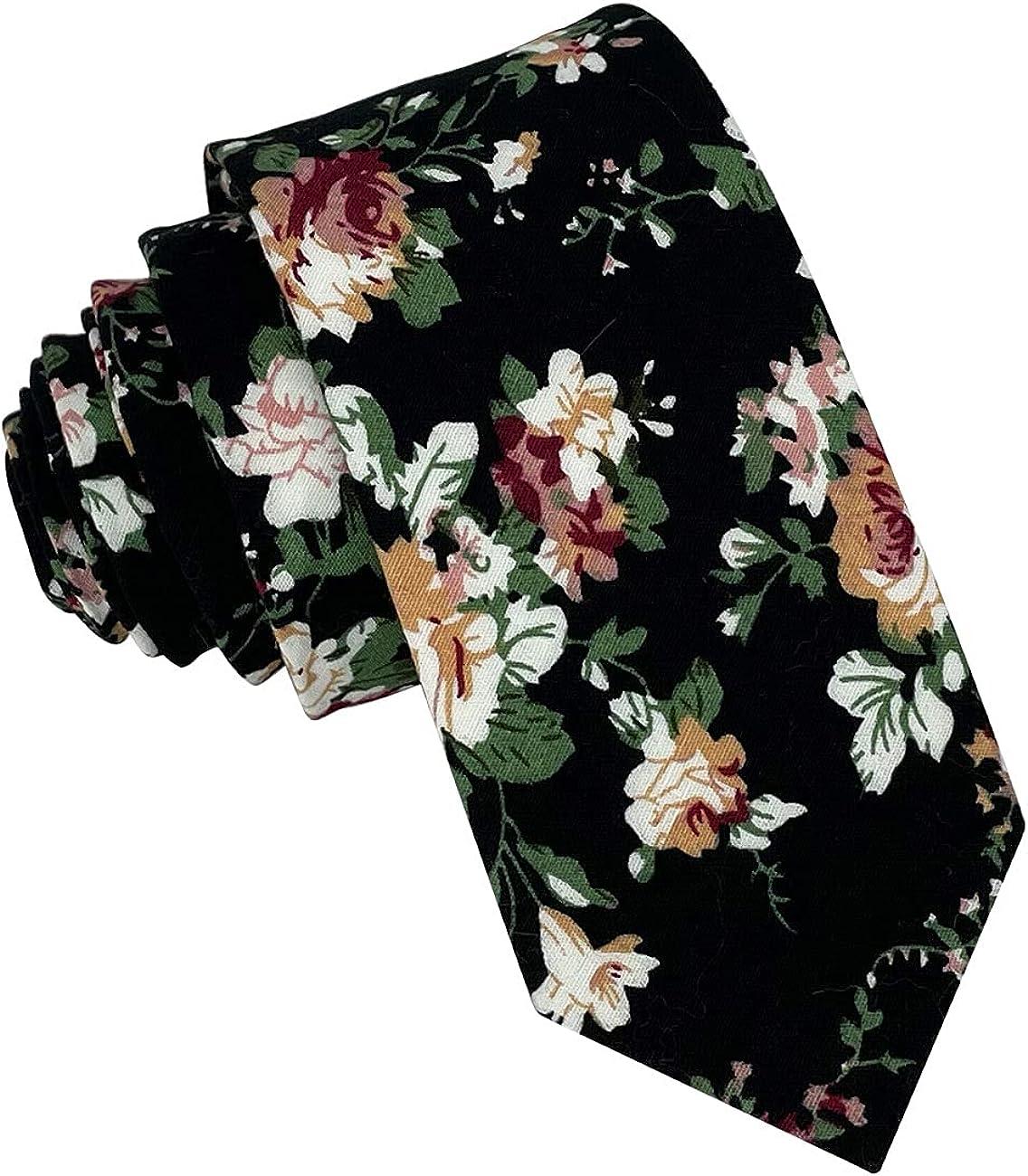 Kebocis Mens Cotton Necktie Skinny Tie for Men