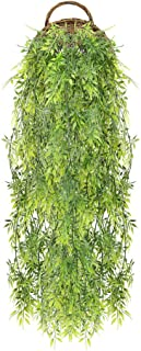HUAESIN 3PCS Lierre Artificiel Guirlande 80cm Plante Artificielle Exterieur Fausse Plante Grimpante Vert Decoration pour J...