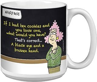 Tree-Free Greetings Extra Large 20-Ounce (591ml) Ceramic Coffee Mug, Aunty Acid Ten Cookies, Multi-Colour, 10.3 x 15.24 x ...