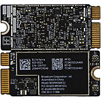"""BCM94360CS2 WiFi Bluetooth Airport Wireless Card Replacement for MacBook Air 11"""" A1465 (2013, 2014, 2015) 13"""" A1466 (2013, 2014, 2015, 2017) (661-7465, 661-7481, 653-0023)"""