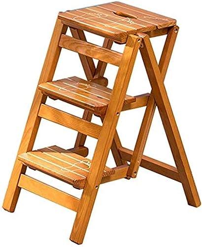 tomar hasta un 70% de descuento DQMSB Escalera Escalera Escalera 3 Escalera Escalera Plegable Taburete Ligero Madera Maciza Escalera De Escalera For El Hogar Y La Cocina Escalera Antideslizante Sólida Y Ancha De Pedales Capacidad De 150 Kg For Ahorra  perfecto