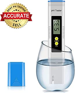 EternalBe Digital PH Meter, 0.01 PH High Accuracy Water Quality Tester with 0-14 PH Measurement Range for Household Drinking, Pool and Aquarium Water PH Tester Design with ATC, PH Meter
