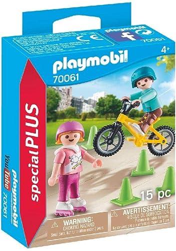 Playmobil - Enfants avec Vélo et Rollers - 70061