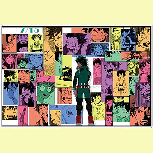 Muursticker My Hero Academia Anime zelfklevend vinyl poster kamer Hd Wall Sticker Decoratie huis 60 x 90 cm D