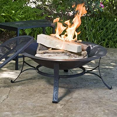CobraCo Round Cast Iron Copper Finish Fire Pit