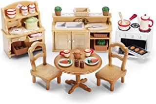 Calico Critters Deluxe Kitchen Set - Includes Over 40 Accessories - Perfect Kitchen for Your Child's Calico Critter Friend...