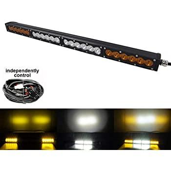 Curved Led Light bar AngelMa 20 inch 90W Single Row Driving Light CREE 5W LEDs Spot Beam Off Road Lights for Ford Jeep Cabin Boat SUV Truck ATV Pickup 4x4 Vehicle Driving Lights 12v 24V