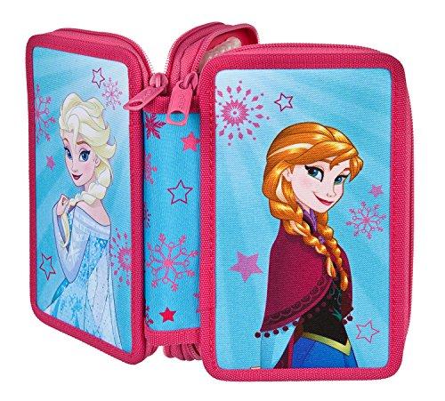 Doppeldecker Schüleretui mit Stabilo Markenfüllung, Disney Frozen