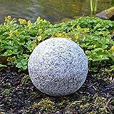 BURI Dekokugel in Granitoptik 25cm Gartenkugel Gartendeko Granitkugel Deko Steinkugel