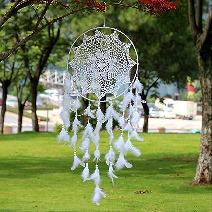 Cadeau Saint Valentin dgsdf Attrape Reve,Pendentif Fait Main Arbre De Vie Dreamcatcher Blanc