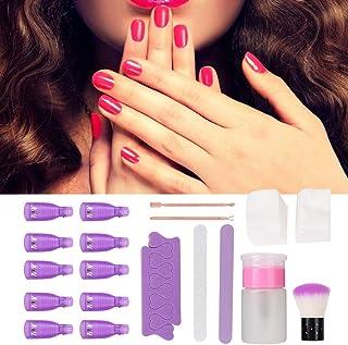 AMONIDA Lima de uñas quitaesmalte de uñas fácil de Usar Tienda de salón casera Simple y práctica(9 Pieces)