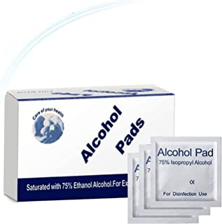 100pcs Alcohol Prep Pads, 75% Alcohol Cotton Slices, 100 Pcs Alcohol Gauze Pads Individually Wrapped Swap Pad Wet Wipe, 6 x 6cm/2.36in x 2.36in
