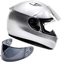 Snell M2015 Approved Full Face Motorcycle Helmet (Medium – Silver)