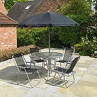 Piece Garden Furniture Chairs Umbrella