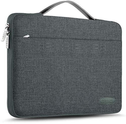 HSEOK 13-13,5 Pollici Borsa Portatile Custodia Protettiva Sottile Impermeabile Ventiquattrore per 13.3  MacBook Air PRO, XPS 13, Surface Book 13,5  e 13 -13,5  Laptops Notebook, Biancheria Grigia