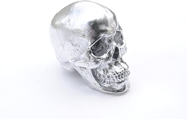 Near Deer Large Life Size Human Anatomy Faux Chrome Human Skull Resin Home Decor Table Top Skeleton Head SK13
