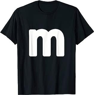 letter m shirt lower case alphabet Letter M different colors T-Shirt