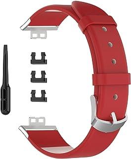 YsaAsaa Bracelet de Remplacement en Cuir, Montre de Remplacement de la Montre, Bracelet de Montre Intelligente Compatible ...