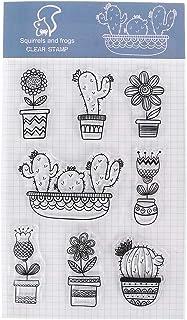 Tandou Cactus - Sello de silicona transparente para manualidades, álbumes de recortes, decoración de álbum de fotos
