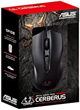 ASUS Cerberus Optical Gaming Mouse | Ambidextrous Controls for Left & Right Handed Gamers | Wired Mouse for PC | 6 Buttons...