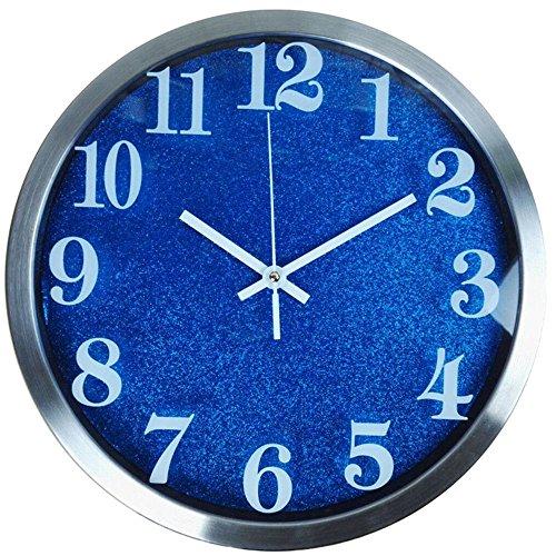 Wall Clock WERLM Persoonlijkheid Design Home Decor Art Klok 12 inch RVS Wandklok Creative Fashion woonkamer wandklok ideaal voor thuis keuken kantoor school Ideaal voor elke kamer, B