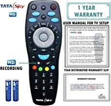 Tata Sky 100% Original Universal Remote (Directly From The Manufacturer) With 1 Year Warranty (Also Works with all TV) Check Images Before Purchase