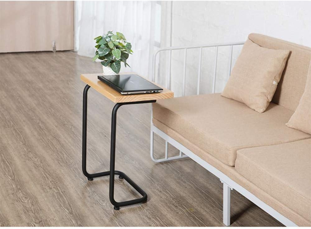 Table d'appoint de canapé C Table Maison Table de Cahier Simple pour Petite Table en Bois Massif de Petit Espace, 26 Pouces, Couleur Bois, Maison/Bureau Woodcolor