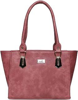 Women Blush Pink Zip Handbags