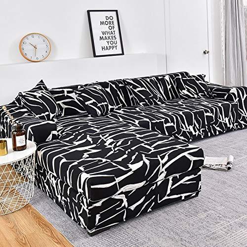 WXQY Funda de sofá de Esquina para Sala de Estar, Funda Ajustada, Funda de sofá elástica, Funda de sofá elástica, Funda de sofá a Prueba de Polvo, Toalla de sofá A13 de 3 plazas