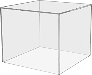 Marketing Holders Show Case 5 Sided Cube Retail Riser Advertisement Display Art Pedestal Museums Wedding Receptions Venues Jewelry Display (1, 7 Inch)