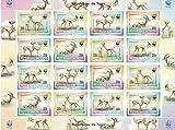 Timbres pour collectionneurs–Perforfated Stamp Sheet avec WWF (World Wildlife Fund)/République du Niger/animaux sauvages/Gazelles
