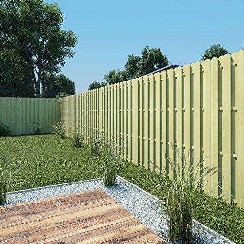 tidyard Panel de Valla Vallas para Jardin Tiras de Protectora de Privacidad y Seguridad Pantalla Proteción Jardín de Madera de Pino Verde Impregnada 180x180cm